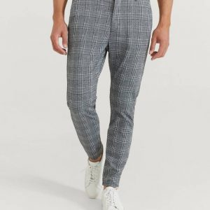 Housut Soft Chino Check