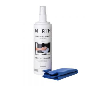 North - Cleaning Kit for TV Fluid 250ml & Cleaning Cloth