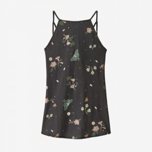 Patagonia Naisten Alpine Valley Tank Toppi - Luomupuuvilla ja TENCEL, Night Pollinators Spaced: Ink Black / M