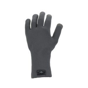 Sealskinz Waterproof All Weather Ultra Grip Knitted Glove - Black - Unisex - S
