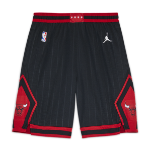 Chicago Bulls Statement Edition Older Kids' (Boys') Jordan NBA Swingman Shorts - Black
