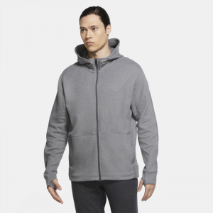 Nike Yoga Men's Full-Zip Hoodie - Grey
