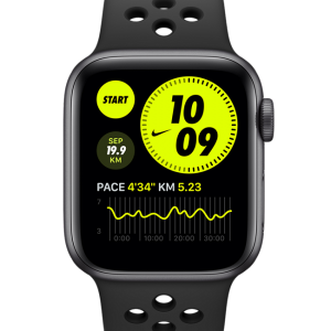Apple Watch Nike SE (GPS + Cellular) with Nike Sport Band 40mm Space Grey Aluminium Case - Grey