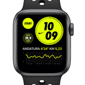 Apple Watch Nike SE (GPS + Cellular) with Nike Sport Band 44mm Space Grey Aluminium Case - Black