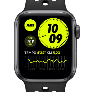 Apple Watch Nike SE (GPS + Cellular) with Nike Sport Band 44mm Space Grey Aluminium Case - Grey