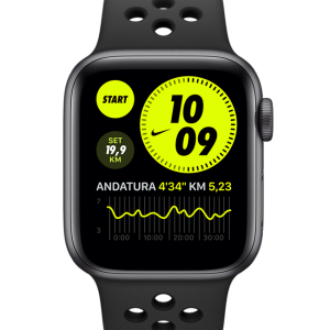 Apple Watch Nike SE (GPS) with Nike Sport Band 40mm Space Grey Aluminium Case - Black