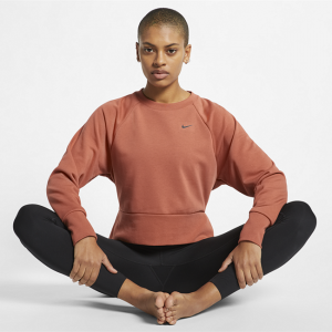 Nike Dri-FIT Women's Long-Sleeve Yoga Training Top - Pink
