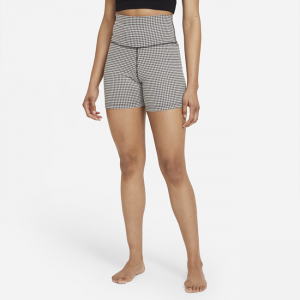 Nike Yoga Women's Gingham Shorts - Grey