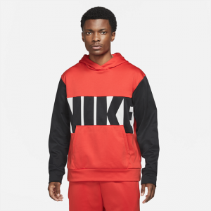 Nike Therma-FIT Men's Basketball Pullover Hoodie - Red